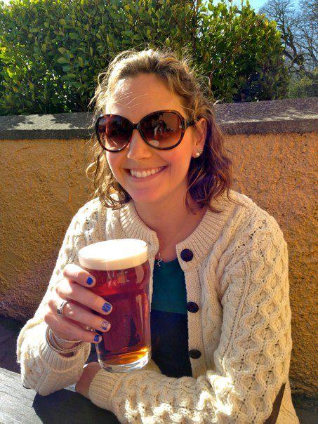 drinking a Kilkenny